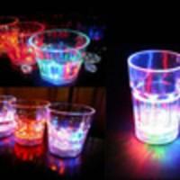 GELAS MINUM SENSOR AIR LED BERUBAH 7 WARNA KECIL CAFE DISKO VALENTINE PARTY LIGHT NYALA BARANG UNIK BONUS BATERY KADO SOUVENIR