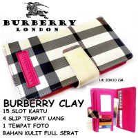 DOMPET WANITA SUPER MURAH CASUAL BURBERRY CLAY LIGHT KW PINK