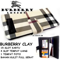 DOMPET WANITA SUPER MURAH CASUAL BURBERRY CLAY LIGHT KW HITAM