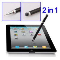 2 in 1 Magic Touch Pen for iPhone 4 , 3GS , iPad 2 , iPod Touch and All Mobile Phone, Computer with Capacitive Screen