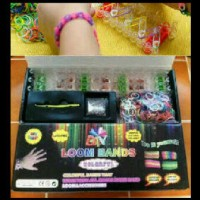 DIY Rainbow Loom Bands Colorful Stater KIT GRADE A gelang karet handmade edukasi loombands loomband loom band mainan edukatif