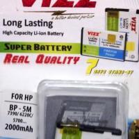 Baterai/Battery/Batre/Dobel/Double Power Vizz Nokia BP-5M BP 5M 2000Mah for Nokia 5610, 5700, 6110 Navigator, 6220 Classic, 6500