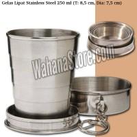 Gelas Lipat - Stainless Steel