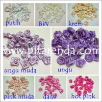 Aplikasi bunga untuk bahan bross FST-04 : Bunga Rose / Mawar Kancing