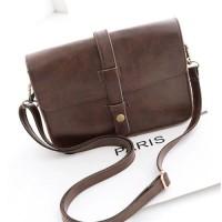 tas selempang satchel brown coklat vintage tua wanita import murah