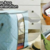 storage bag box tinggi organizer penyimpanan baju selimut sprei tinggi