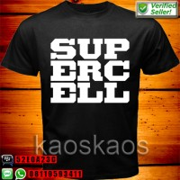 Kaos Clash Of Clans Supercell White Logo