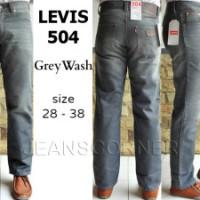Celana Cowok Jeans Pria Termurah Merk LEVIS 504 GREY WASH Jakarta