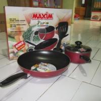 Alat Masak Maxim Paris in Color Panci - Teflon Merah/Hitam