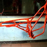 rangka trail cros model klx150 pnp mesin tiger glp