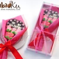 Buket cokelat loli be my valentine & loli mawar