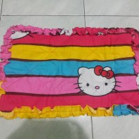Sarung Cover TV/Monitor LCD 42-50 inch Bahan Katun Hello Kitty Rainbow