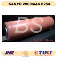 Baterai 18650 SANYO 2800mAh UR18650ZT S 25A! - Battery - Batre Cas
