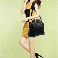 tas selempang tenteng tangan jinjing shoulder bag wanita hitam import