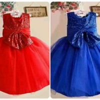 dress zoe momo red and blue