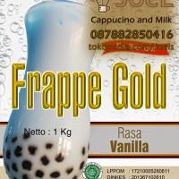 Es Blender Bubuk Cappucino Rasa Vanilla Merek Frappe Gold