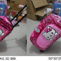 Tas Travel Bag Motif Hello Kitty Pinky 3D Cute Style