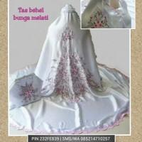 Tas behel bunga melati - putih pink