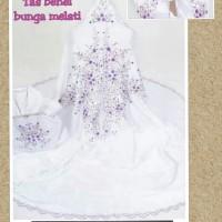 Tas behel bunga melati - putih ungu