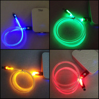 DATA CABLE / KABEL DATA LED 2 WARNA TYPE IPHONE 3G/3GS/4/4S & IPAD 1/2