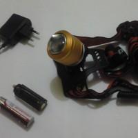 senter kepala led MS-2812 nyala putik dan kuning n