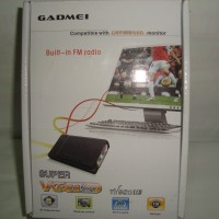 TV Tuner/Converter AV To VGA untuk Monitor CRT/LCD/LED Gadmei 3821 New (Tanpa PC/CPU)