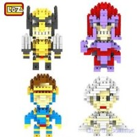 lego LOZ nano micro block X Men wolverine,storm,magneto,cyclops