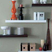 Floating Shelves Uk:60 x 20 x 4 (cm) @ 4 buah