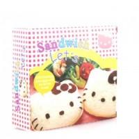 Cetakan Cetak Roti Tawar HK Isi Sandwich Mold Cutter Bento Hello Kitty