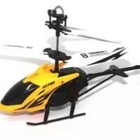 R/C Helikopter HX725 2 Channel Kuning, Merah + Adaptor Listrik