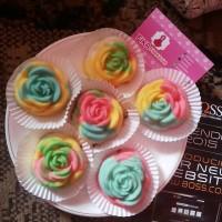 Bolu Kukus Mawar Pelangi - Bolu Kukus Mawar Rainbow