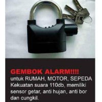 gembok alarm / gembok pagar motor siren padlock / sirene pad lock