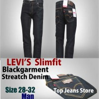 Celana Jeans Levis Blackgarment  Slimfit Streatch Denim Size 28-32.