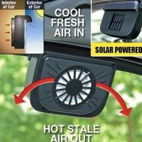 Auto Fan Mobil Kipas Angin Otomatis Tenaga Surya / ac genggam mini