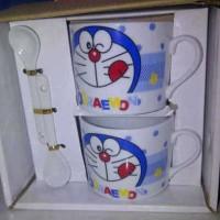 Set Gelas Sendok Kramik Doraemon