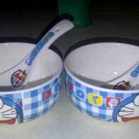 Set Mangkok Sendok Kramik Doraemon
