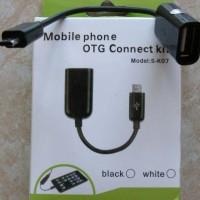 kabel OTG micro usb to usb female utk hp, tablet bb samsung