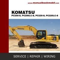 Service Manual Komatsu Excavator PC200-8, PC200LC-8, PC220-8, PC220LC-