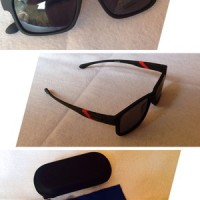 kacamata oakley 2008 black red polarized