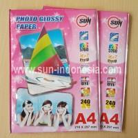 SUN Photo Glossy Paper 240 Gsm A4 ( Kertas SUN )
