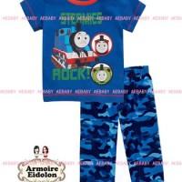 baju setelan anak laki AE thomas engine biru