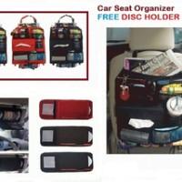 PAKET 2 IN 1 (CAR SEAT ORGANIZER + DISC HOLDER CAR / SUN VISOR)