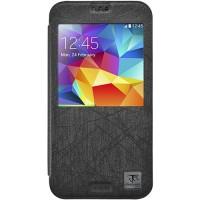 Metal-Slim Flip Cover Samsung Galaxy S5 - Black ( Classic Q Series )
