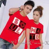 Kaos Couple / Baju Pasangan / Soulmate  Merah 9448