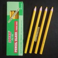 Pensil kaca dermatograph (pencil glass) joyko PG-100 (kuning)