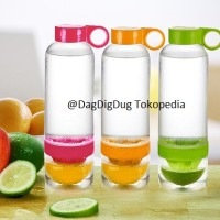 citrus zinger juicer infused water / tritan bottle botol minum