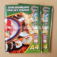 SUN Colourlife Inkjet Paper 200 Gsm A4 (Kertas SUN)