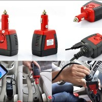 Car Power Inverter 150W port plug play usb charger mobil laptop hp mp3
