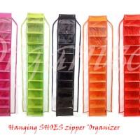 HSOZ Tripleks (Rak sepatu retsleting triplek) Hanging shoes organizer