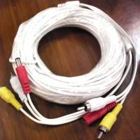 Kabel Jadi Komplit Konektor CCTV Video dan Audio dan Jack DC 15m